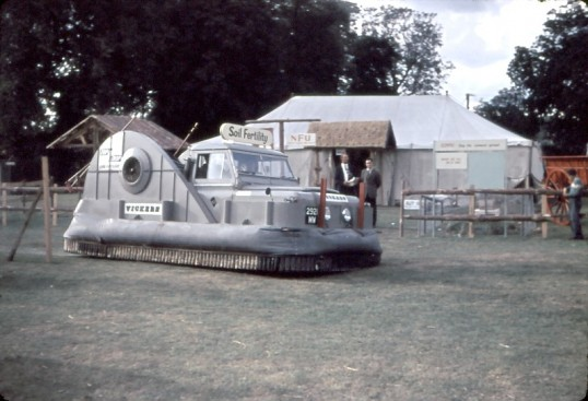 Chatteris Trade Fair. Land Rover in disguise as a Hovercraft!Photo by Mr E J Tilley