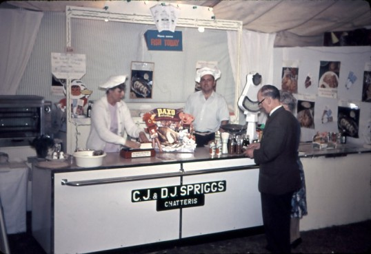 Chatteris Trade Fair. C J & D J Spriggs trading in Marquee.Photo by Mr E J Tilley.