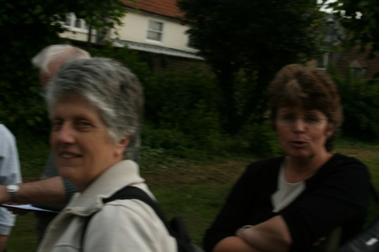 Chatteris Community Archive meets for practice town walk, outside Saint Peter & Saint Paul church .4 of 4 Photographs.