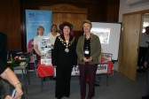 Mayor of March Clr Jane French & Chief Executive Age Concern Gloria Culyer, in front of Archive Stand.International Day of Older People