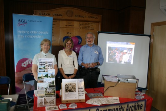 Chatteris Community Archive stand, at International Day of Older People. March Town Hall