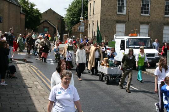 Chatteris Medieval Festival parade.