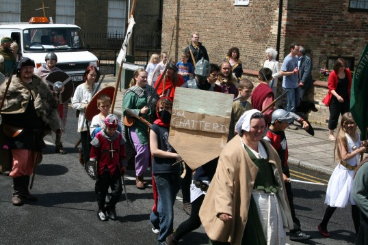 Chatteris Medieval Festival parade.