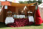 Historical glass, on show and for sale at Chatteris Medieval Festival.