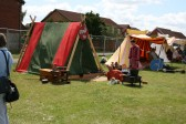 Medieval encampment at Chatteris Medieval Festival, Furrorfields Park, Chatteris.