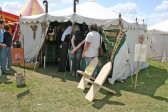 """Furnish your Tent here,--- very reasonable prices"", at Chatteris Medieval Festival, Furrowfields Park, Chatteris."