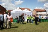 Fenland District Council, First Aid tent, at Chatteris Medieval Festival. Furrowfields Park, Chatteris.