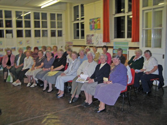 The Chatteris Womans Institute, photographed at a presentation of the Chatteris Community Archive, held at the King Edward Centre. Chatteris.