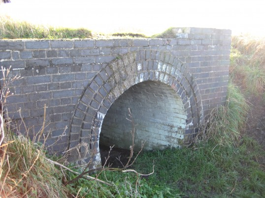 Hidden Chatteris, Culvert under disused railway line, now a railway walk from  Chatteris to Somersham. One of the few reminders a railway existed through Chatteris.
