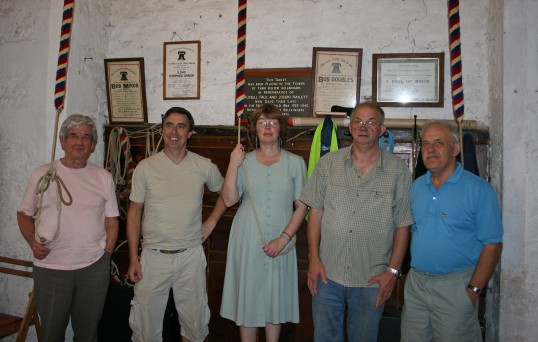 Bell Ringers of Saint Peter & Saint Pauls Church, Chatteris.Head Bell ringer and maintainer of equipment is Mr Richard Edgley second on right .