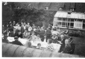 Congregational Church tea party, Railway Lane, Chatteris. From the Alan Rickwood collection.