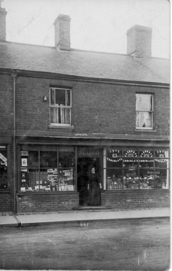 Ada Pulley at the Spurr grocery shop, 25, Park Street, Chatteris. From the Alan Rickwood collection.