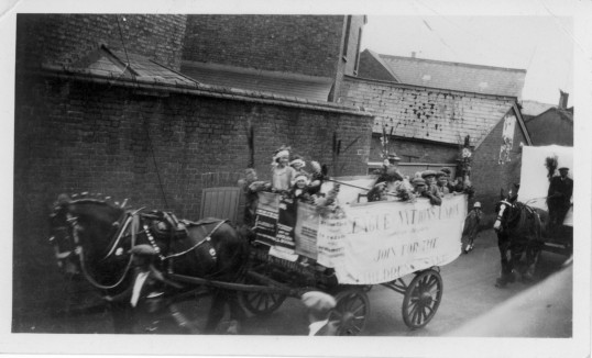 Floats heading for Hospital Sunday Parade in Chatteris, from the Alan Rickwood collection.