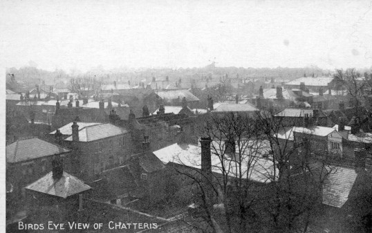 From the Alan Rickwood collection. View from Chatteris Church Tower