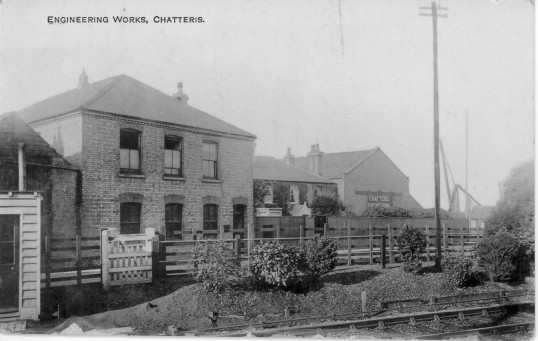 Chatteris Engineering Works, taken from Chatteris Railway Station.From the Alan Rickwood collection.