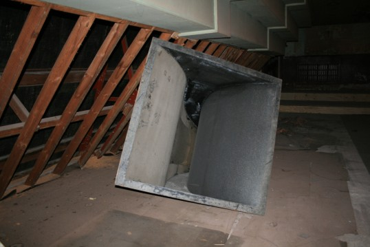 View of loudspeaker used at old Empress Cinema, Chatteris.See text for more information.