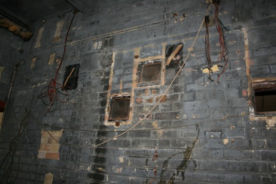 Inside the projection room of the old Empress Cinema, Chatteris.See text for more information.