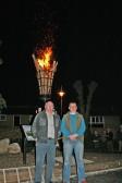 Town Mayor John Chambers & Deputy Mayor James Carney who ignited the Beacon on 60th Jubilee of Queen Elizabeth, St Peter & St Paul's Church Chatteris.