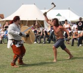 Re-enactment at Chatteris Medieval Festival showground.