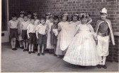 May Day at Burnsfield Infant School, Chatteris, 1962.