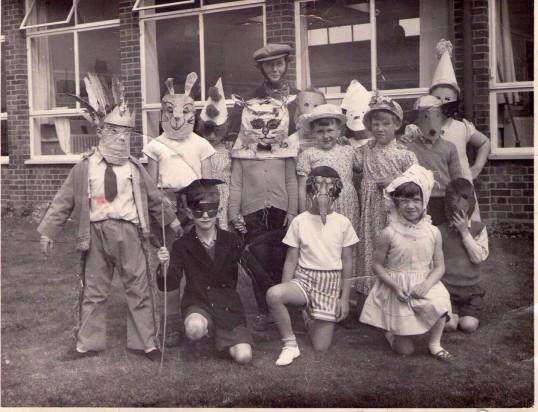 Fancy Dress day in Mrs. Bristow's Class, Burnsfield School, Chatteris. 1962.