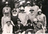 Chatteris Bible Reading Class, possibly at the Zion Chapel, Park Street.  Rose Bishop,  is in the middle row, far right.