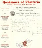 Goodman's of Chatteris, Caterers, Nurserymen, Fruit Merchants etc., wedding cake receipted invoice for Miss Palmer of Mepal.