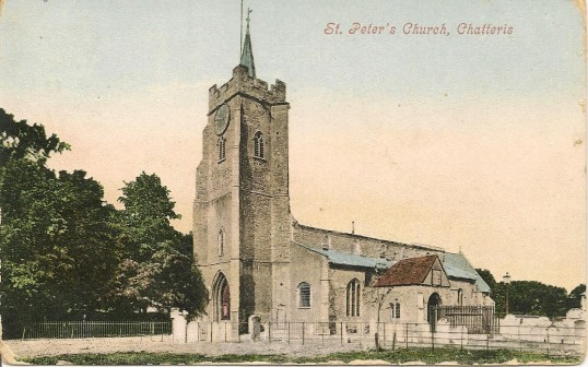 Postcard of Saint Peter's Church, Chatteris. Post marked on reverse May 1905