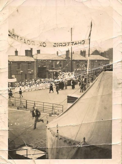 Chatteris coronation parade. East Park Street, junction with Saint Martins Road.
