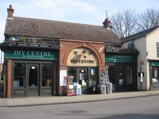 DIY shop & Funeral Directors shop