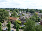 View of Church Lane and The Shrubbery area from Church Tower.