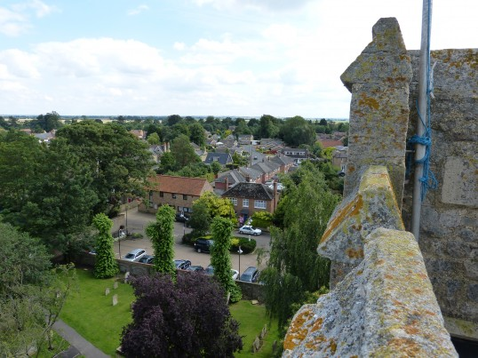 View Across Chatteris from Parish Church Tower