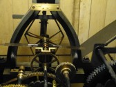 Clock mechanism in tower of Parish Church of Saint Peter and Saint Pauls, Chatteris.