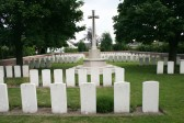 The Grave of Private Montague Angood, Vichte Military Cemetery, Belgium