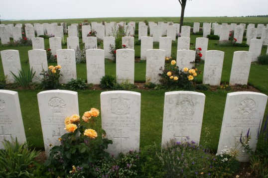 The Grave of Chatteris WW1 Soldier Jesse Clarke