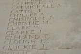 Chatteris WW1 Soldier John Clarke's Name on the Thiepval Memorial