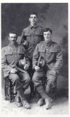 William and Edward Savage and Unidentified Soldier from WW1
