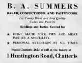 B. A. Summers advertisement