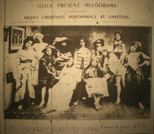 Girls Present Melodrama, Cambridgeshire Times, Friday 29th January 1915