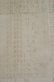 Chatteris WW1 Soldier Joseph W Clarke's Name on Thiepval Memorial