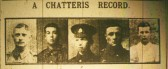 WW1 Soldiers George Hills, Walter Harding, Horace Hills, Charles Hills, Ernest Harding Cambridgeshire Times May 7th 1915