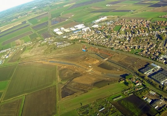 Aerial Photograph of Relocation of 20ft Drain Tesco Development