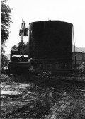 Photographs from Stuart Stacey Collection showing the construction of Water Works/tower  and its later demolition.