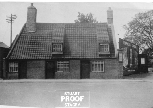 Cottages beside the Empress Cinema on Park Street Chatteris from the Stuart Stacey Collection