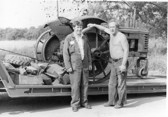Tractor burnt out -Stuart Stacey Collection