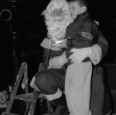 Chatteris Christmas Lights switched on by Santa and Helper. From Stuart Stacey Collection