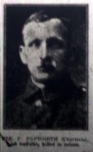 Chatteris WW1 Soldier Fred Papworth (18737), Chatteris Remembers Biography