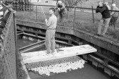Duck Race held at Bartletts on Huntingdon Road. -Stuart Stacey Collection