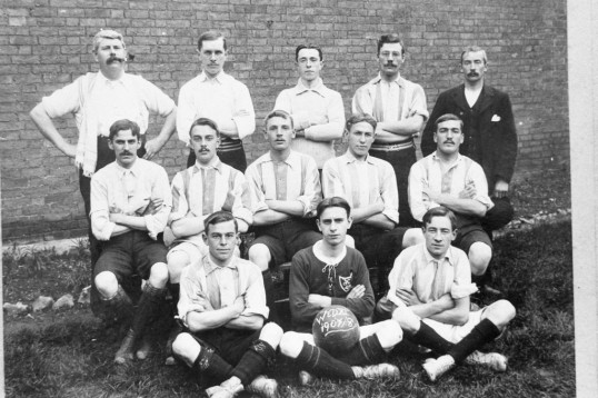 Football Team WED X1   1907/8 -Stuart Stacey Collection
