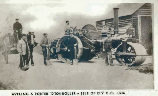 Isle of Ely Road Roller around 1914